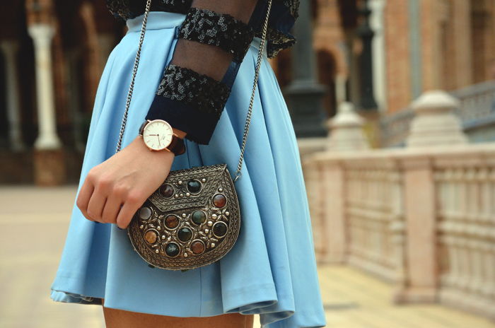 Street style_Sweet Perdition_Fashion Blogger_Blogger sevillana_Blogger sevilla_Ootd_Look_Outfit_Skirt_Daniel Wellington_9